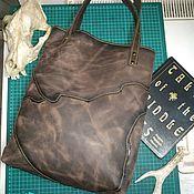 Сумки и аксессуары handmade. Livemaster - original item Tote: Patchwork bag, genuine leather, crazy horse.. Handmade.