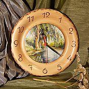 Для дома и интерьера ручной работы. Ярмарка Мастеров - ручная работа Часы из кедра серия Пейзаж. Handmade.