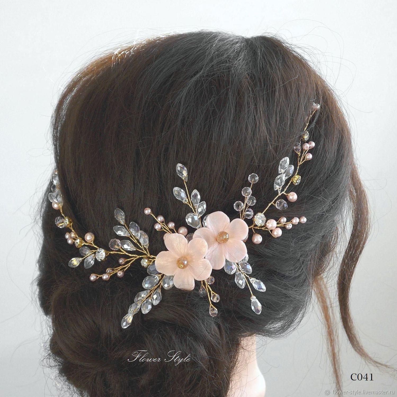 Свадебное украшение для волос С041, Украшения в прическу, Москва,  Фото №1
