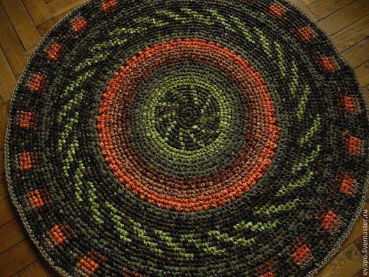 """Текстиль, ковры ручной работы. Ярмарка Мастеров - ручная работа. Купить Коврик """"К дорожке"""". Handmade. Рыжий, Вязание крючком"""