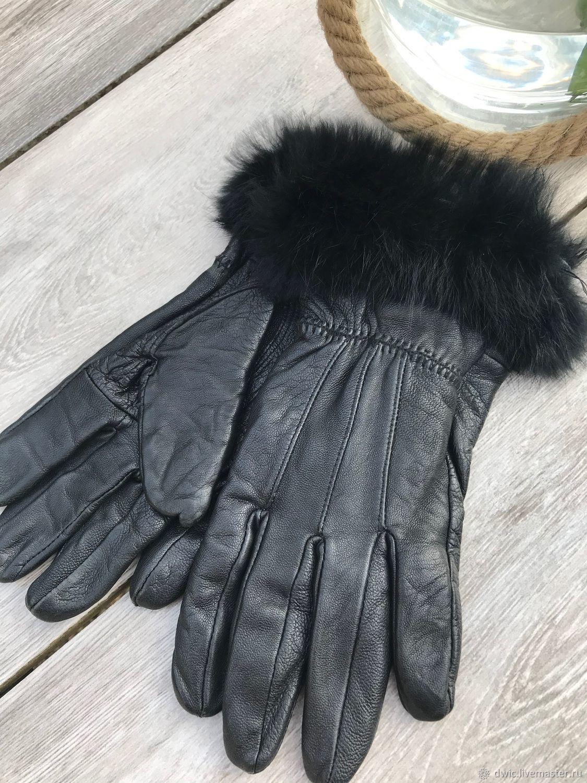 Women's gloves, genuine leather, Europe, Vintage clothing, Arnhem,  Фото №1