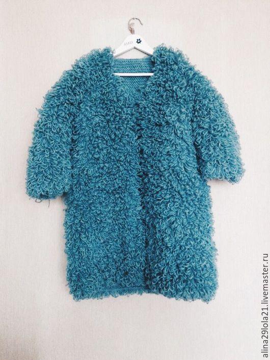 Кофты и свитера ручной работы. Ярмарка Мастеров - ручная работа. Купить Вязанная шубка. Handmade. Комбинированный, шерсть 100%