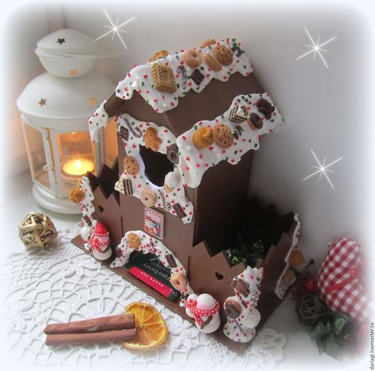 """Новый год 2017 ручной работы. Ярмарка Мастеров - ручная работа. Купить """"Merry Christmas"""". Чайный домик с конфетницами и со светом внутри.. Handmade."""