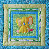 Для дома и интерьера handmade. Livemaster - original item Quilt with pillow