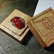 """Украшения ручной работы. Ярмарка Мастеров - ручная работа Кольцо """"Скарабей"""" из золота с сердоликом. Handmade."""
