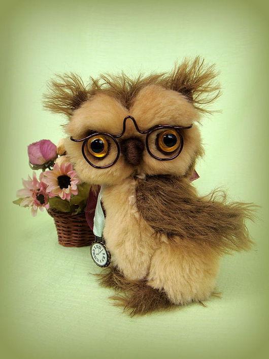 Мишки Тедди ручной работы. Ярмарка Мастеров - ручная работа. Купить Мудрый Филин. Handmade. Филин, плюш, шерсть для валяния