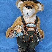 Куклы и игрушки ручной работы. Ярмарка Мастеров - ручная работа Отто - баварский мишка. Handmade.