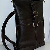 Сумки и аксессуары handmade. Livemaster - original item Backpack leather city 37. Handmade.