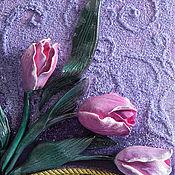 """Картины и панно handmade. Livemaster - original item """"Прекрасные тюльпаны"""". Handmade."""