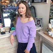 Одежда handmade. Livemaster - original item Women`s purple pullover. Handmade.