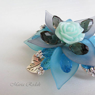 Decorations handmade. Livemaster - original item Flower brooch Misty morning. Handmade.
