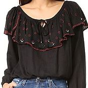 Одежда handmade. Livemaster - original item Women`s embroidered blouse ЖР4-084. Handmade.