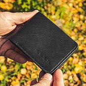 Сумки и аксессуары handmade. Livemaster - original item Bifold black leather wallet. Handmade.