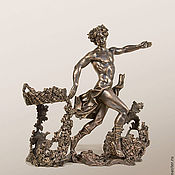 """Для дома и интерьера ручной работы. Ярмарка Мастеров - ручная работа Подставка под вино """"Дионис"""" (подставка из бронзы под вино, коричневый). Handmade."""