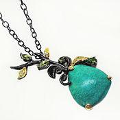 Украшения handmade. Livemaster - original item Handmade necklace pendant made of 925 silver with natural turquoise. Handmade.