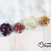 Материалы для творчества handmade. Livemaster - original item Buttons with dried flowers. Handmade.