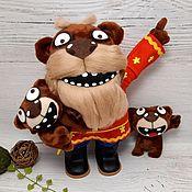 Куклы и игрушки handmade. Livemaster - original item Homeland/abroad, Vasya Lozhkin`s bears, soft plush toy. Handmade.
