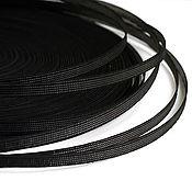 Фурнитура для шитья ручной работы. Ярмарка Мастеров - ручная работа Ригелин  8 мм жесткий черный (в жесткой оплетке). Handmade.