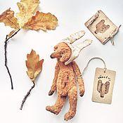 Куклы и игрушки ручной работы. Ярмарка Мастеров - ручная работа 19 см - Осенний Монти - мишка тедди из серии Monty. Handmade.