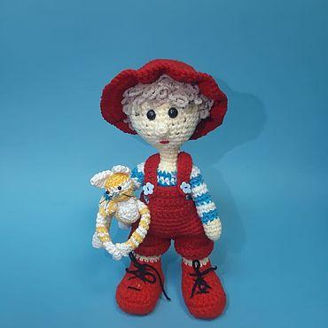 Куклы и игрушки ручной работы. Ярмарка Мастеров - ручная работа Мягкие игрушки: Ерема с котом. Handmade.