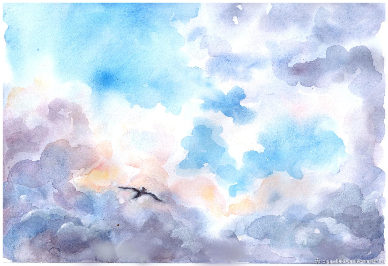 картинки я рисую тебя акварелью небес любимая, родная, днем