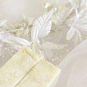 """Косметика ручной работы. Ярмарка Мастеров - ручная работа """"Невеста"""" мыло с нуля на рисовом молочке с шёлком и маслом ши Подарок. Handmade."""