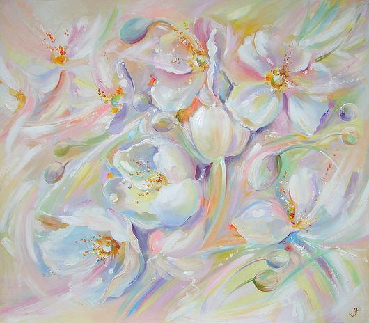 Картины цветов ручной работы. Ярмарка Мастеров - ручная работа. Купить Anemones. Handmade. Анемон, мятный, утро, воздушные цветы