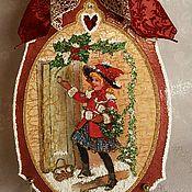 """Подарки к праздникам ручной работы. Ярмарка Мастеров - ручная работа Рождественское панно """"С Рождеством"""". Handmade."""