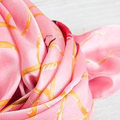 Аксессуары handmade. Livemaster - original item Natural silk scarf with print fabrics ALEXANDER MCQUEEN. Handmade.