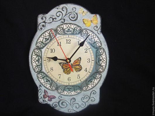 Часы для дома ручной работы. Ярмарка Мастеров - ручная работа. Купить часы Винтаж. Handmade. Серый, часы для дома