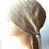 handmade. Livemaster - original item Hand-knitted bandana made of pineapple-cotton yarn. Handmade.