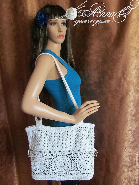 Женские сумки ручной работы. Ярмарка Мастеров - ручная работа. Купить Сумка летняя. Handmade. Белый, ажурная сумка