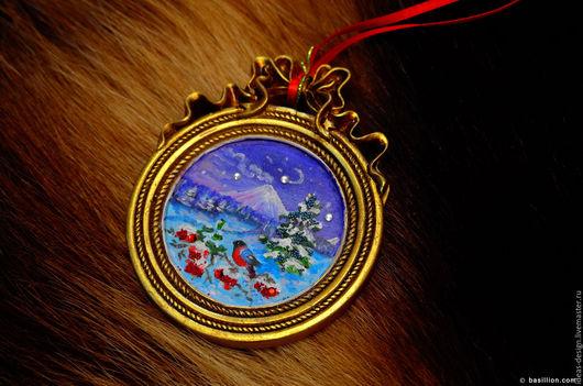 Интерьерное новогоднее украшение - медальоны `Камчатка`