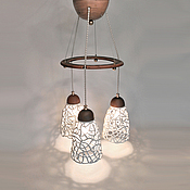 Для дома и интерьера handmade. Livemaster - original item Champagne foam - lamp with three shades. Handmade.