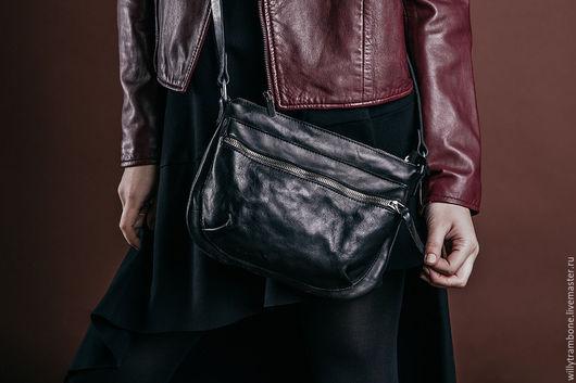 Женские сумки ручной работы. Ярмарка Мастеров - ручная работа. Купить Tool bag. Handmade. Черный, итальянская кожа
