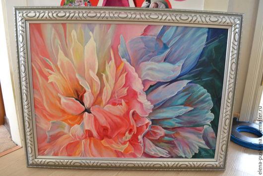 """Картины цветов ручной работы. Ярмарка Мастеров - ручная работа. Купить Картина. Масло. """"Цветок"""" (копия). Handmade. Розовый, картина"""
