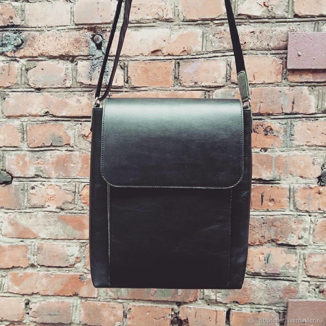9ee469e50ee6 Мужские сумки ручной работы. Ярмарка Мастеров - ручная работа. Купить  Кожаная мужская сумка- ...