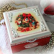 Сувениры и подарки handmade. Livemaster - original item Box for Christmas gift. Handmade.