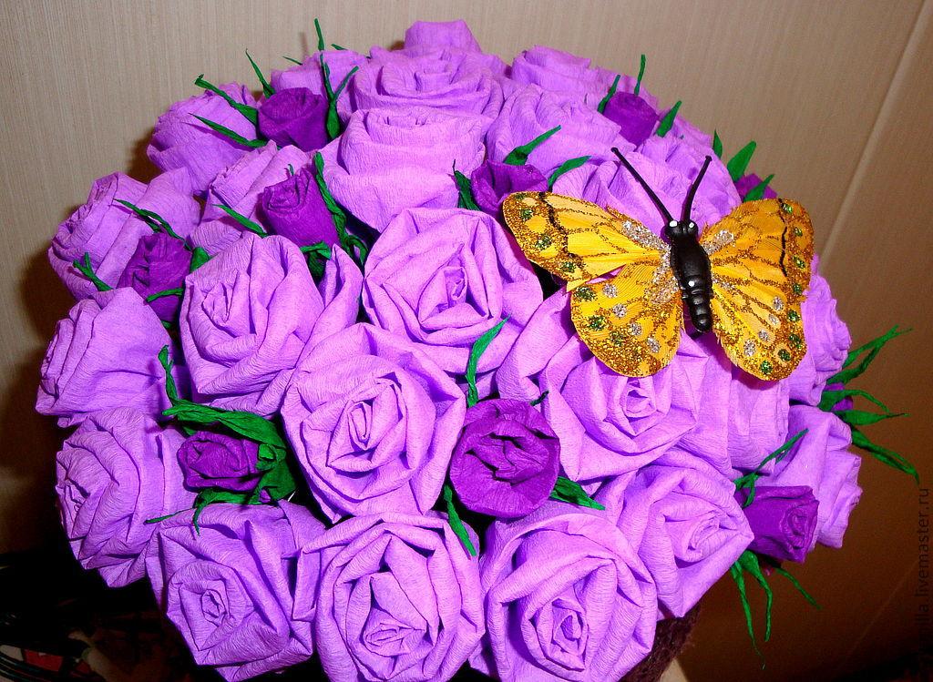 Цветы из гофре своими руками