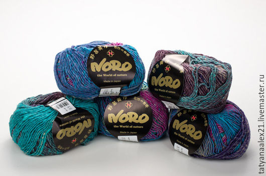 Вязание ручной работы. Ярмарка Мастеров - ручная работа. Купить Пряжа  Noro Shiro № 6. Handmade. Пряжа в мотках