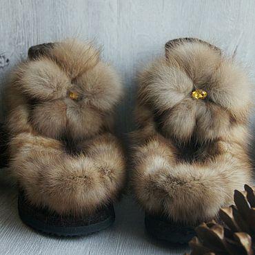 Обувь ручной работы. Ярмарка Мастеров - ручная работа Валеши с соболем. Handmade.