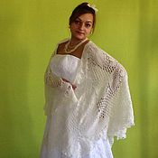 Свадебный салон ручной работы. Ярмарка Мастеров - ручная работа Свадебная шаль из ангоры Ландыш. Handmade.