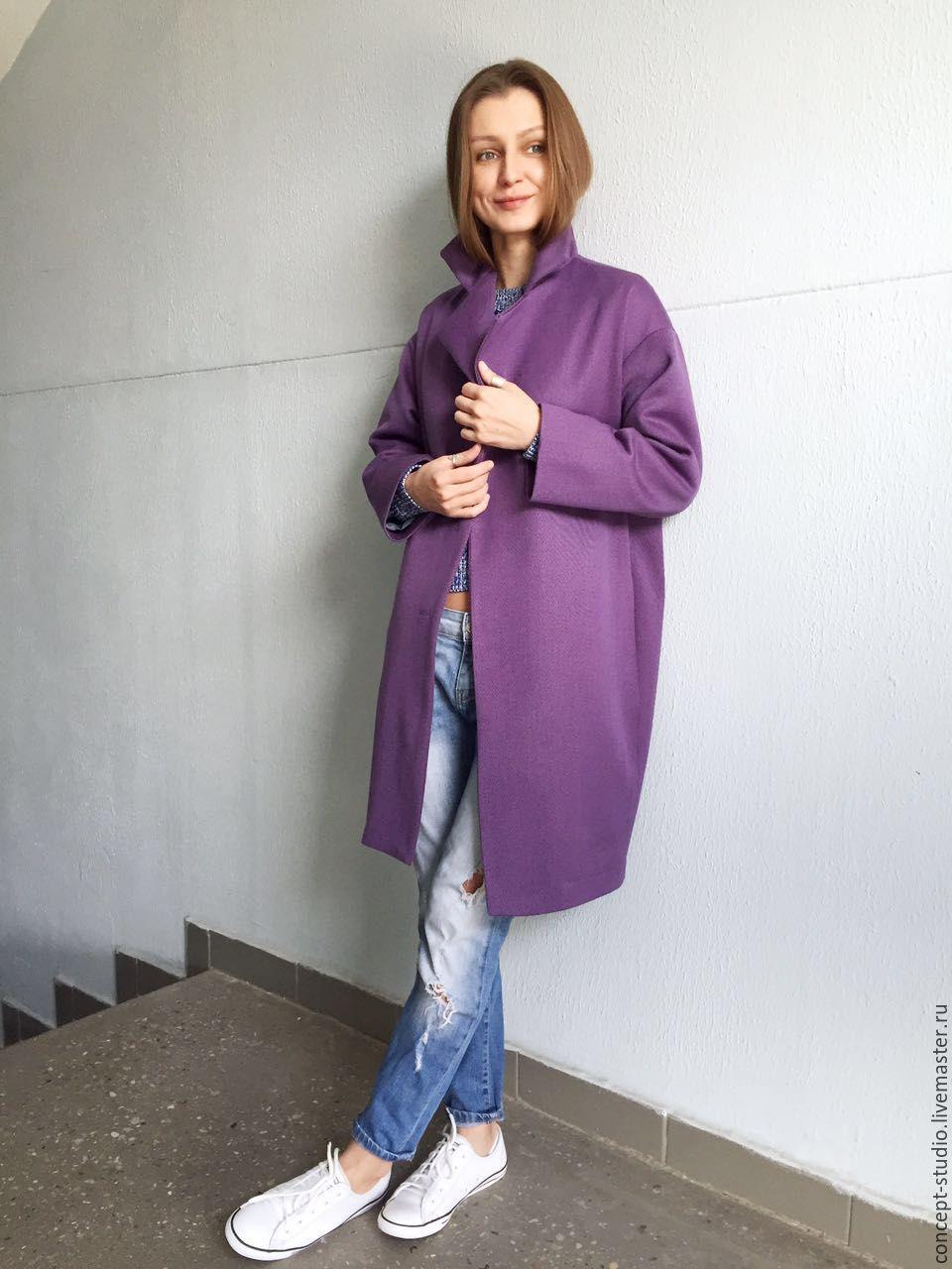1471f68be28 Соломина Татьяна (concept-studio · Верхняя одежда ручной работы. Демисезонное  пальто фиолетовое. Соломина Татьяна (concept-studio) ...