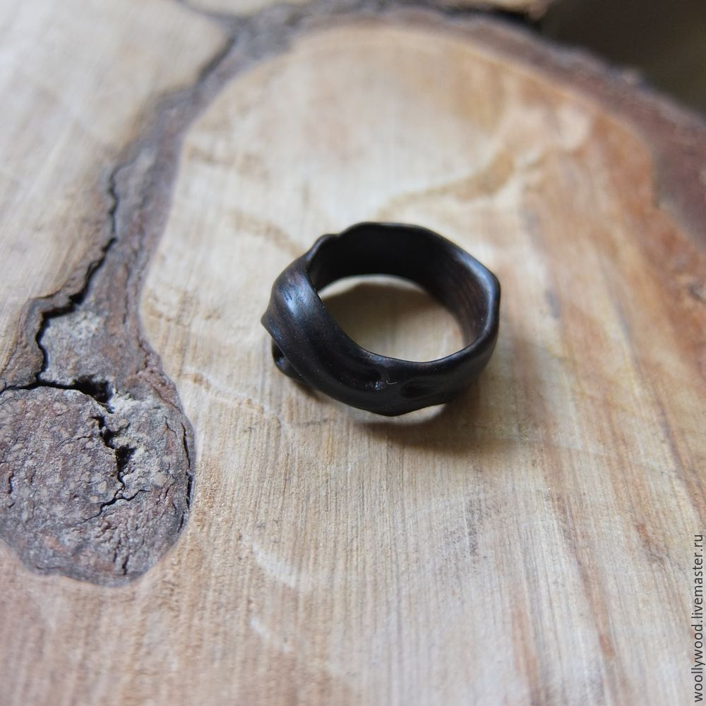 A ring carved of black wood shop online on livemaster for How to carve a wooden ring