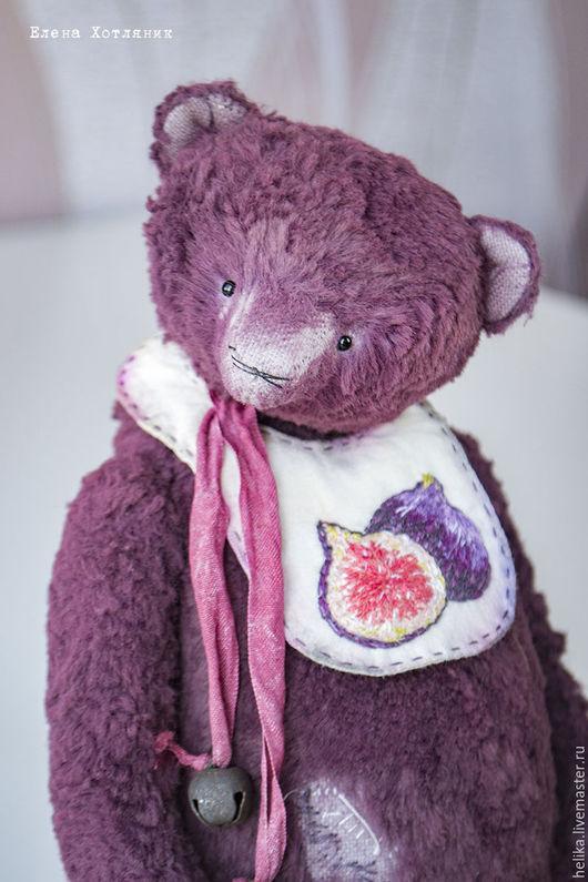 Мишки Тедди ручной работы. Ярмарка Мастеров - ручная работа. Купить Летние ягодки. Handmade. Брусничный, медвежонок, длинноворсовой плюш