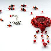 Украшения ручной работы. Ярмарка Мастеров - ручная работа Кулон Пламенный цветок. Handmade.