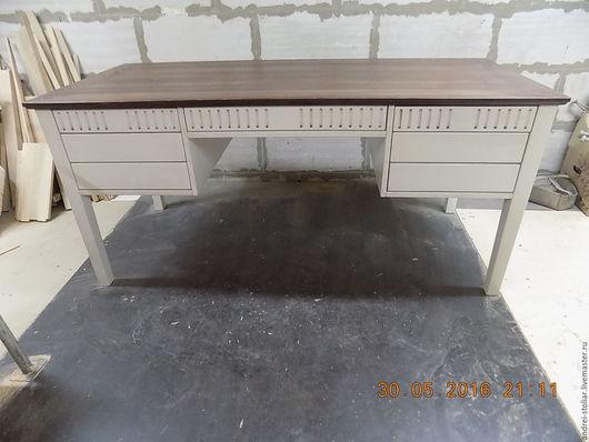 Мебель ручной работы. Ярмарка Мастеров - ручная работа. Купить Деревянный письменный стол (010). Handmade. Стол, ясень
