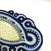 """Украшения ручной работы. Ярмарка Мастеров - ручная работа Сутажная брошь """"Ночной цветок"""". Handmade."""