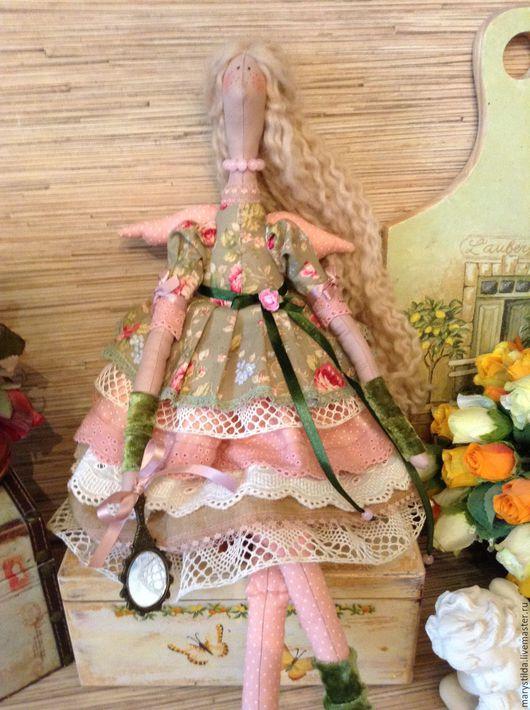 Куклы Тильды ручной работы. Ярмарка Мастеров - ручная работа. Купить Кукла Тильда цветочный ангел Люси фея. Handmade.