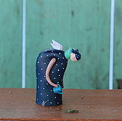 """Для дома и интерьера ручной работы. Ярмарка Мастеров - ручная работа Скульптура """" Даже у семечка есть ангел"""". Handmade."""